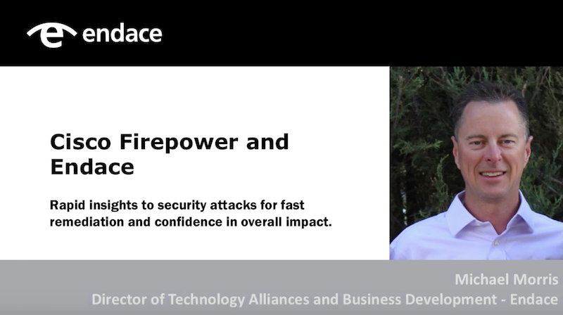 Cisco firepower hosted on EndaceProbe Network Analytics Platform